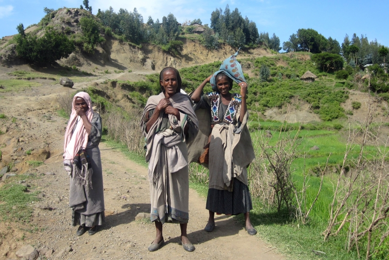Tigray women on our way to Mekele