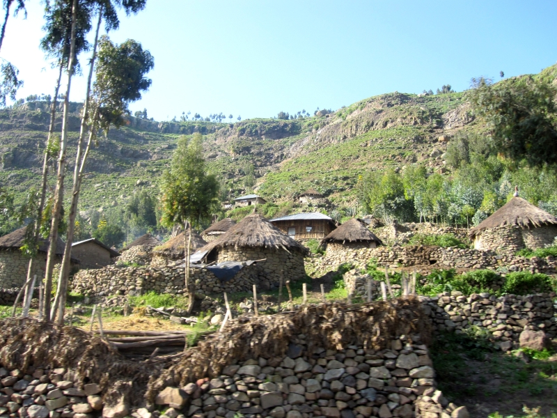 Tigray houses built from local stones