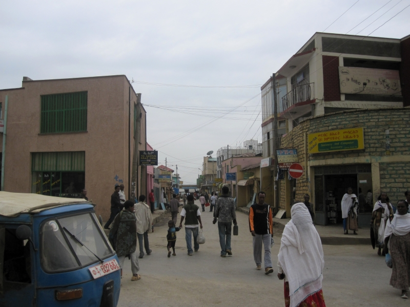 Busy streets of Mekele, once capital city of Abyssinya