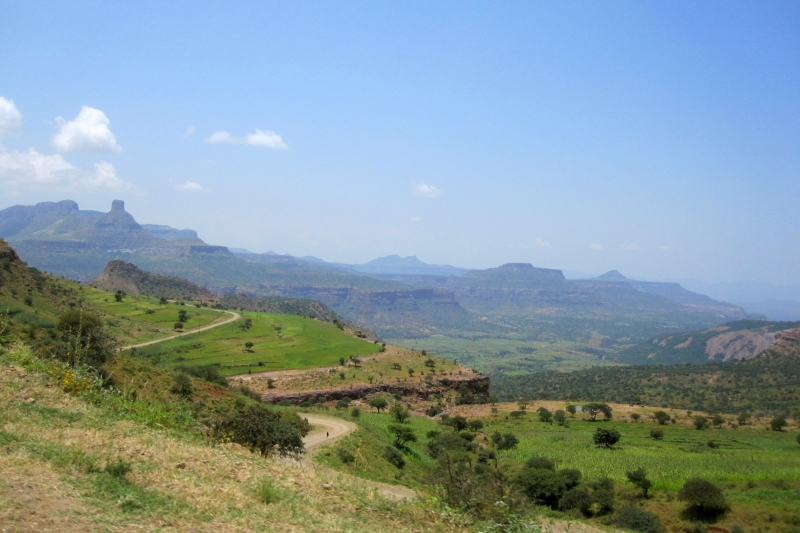Countryside in the northwestern portion of the Ethiopian highlands (Tigray and Amhara Regions)