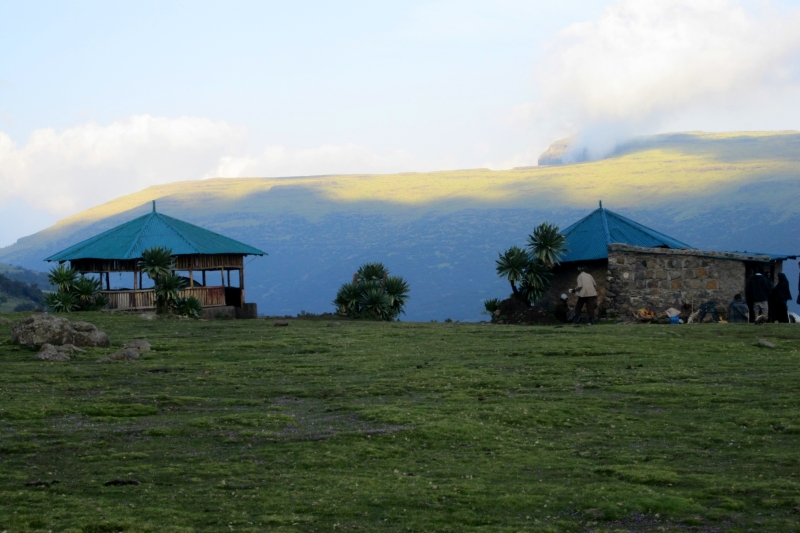 Geech, a camp site in the Semien mountains in the altitude of 4000 m