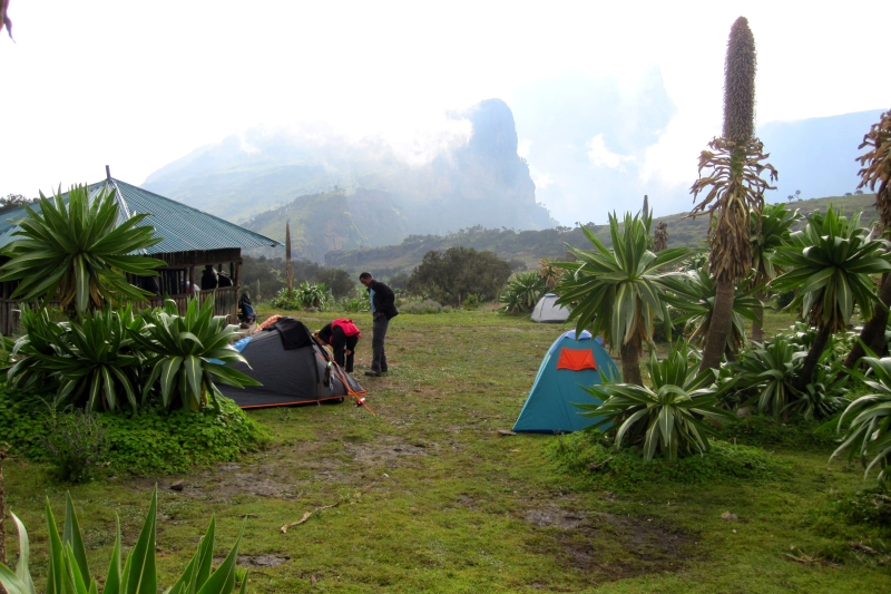 Chenek, a campsite in the Semien mountains in the altitude of 3680 m
