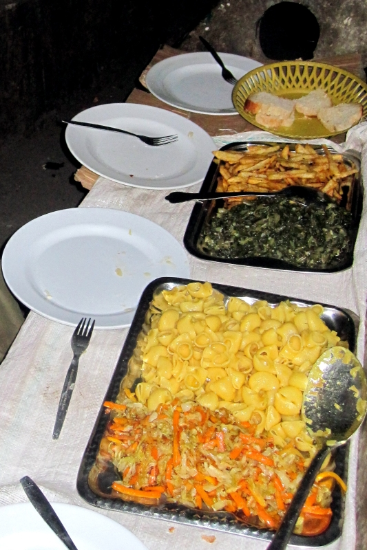 Fasting (vegetarian) meal from the local cooks in the Semien mountains