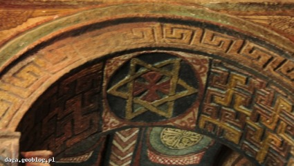 Arcade with a star of David, Lalibela